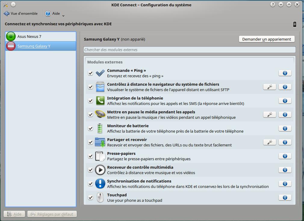 KDE Connect / Wiki / Debian-facile