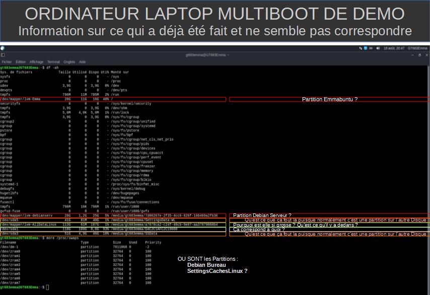 .2.Informations sur ce qui à déjà été fait et ne semble pas correspondre sous Linux