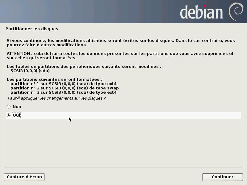 installation debian désactiver windows uefi