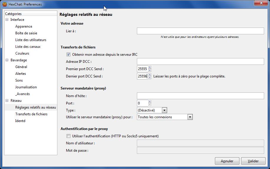 IRC - Envoi/Réception fichiers / Wiki / Debian-facile